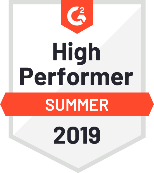 G2, High Performer, Summer 2019