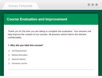 Questionnaire template sample questionnaires smartsurvey course evaluation template pronofoot35fo Gallery