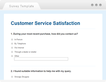 template of a survey questionnaire
