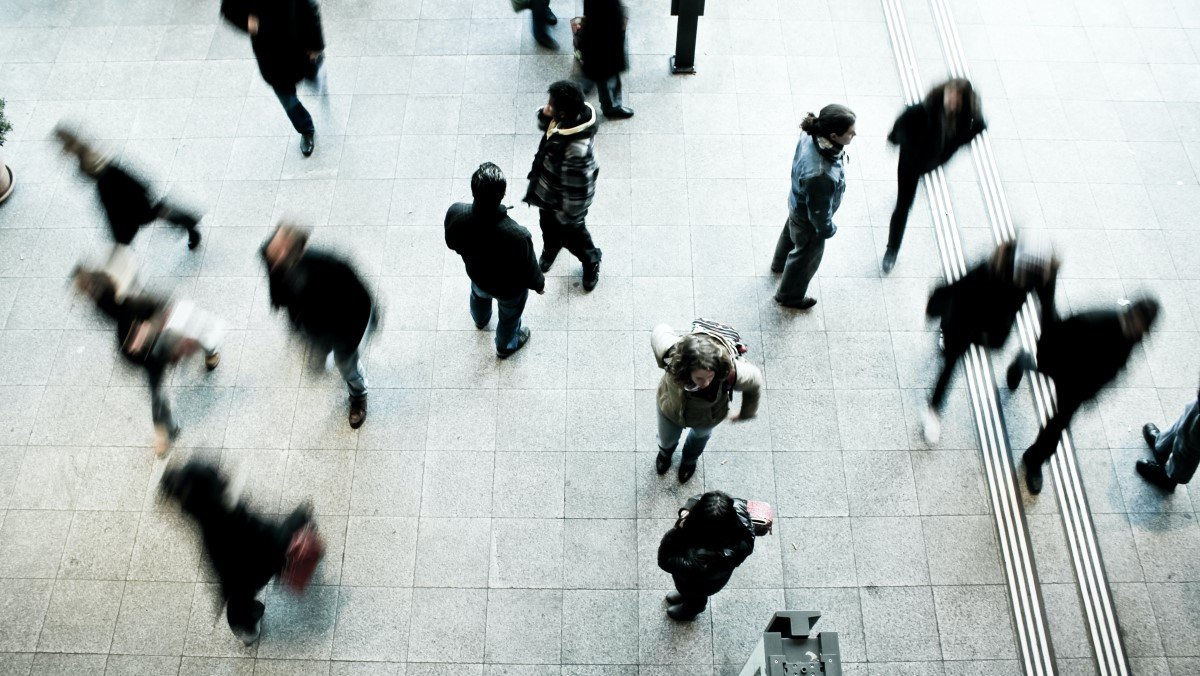 Photo of group of people walking photographed from above. The importance of sample size in research